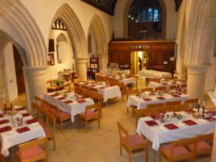 View from the pulpit before the meal