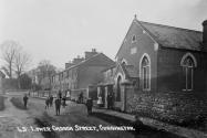 Lower Church Street and the Methodist Chapel, which moved to this site in 1894 from its previous one in Holly Tree Lane.  The photograph dates from the early part of the twentieth century.